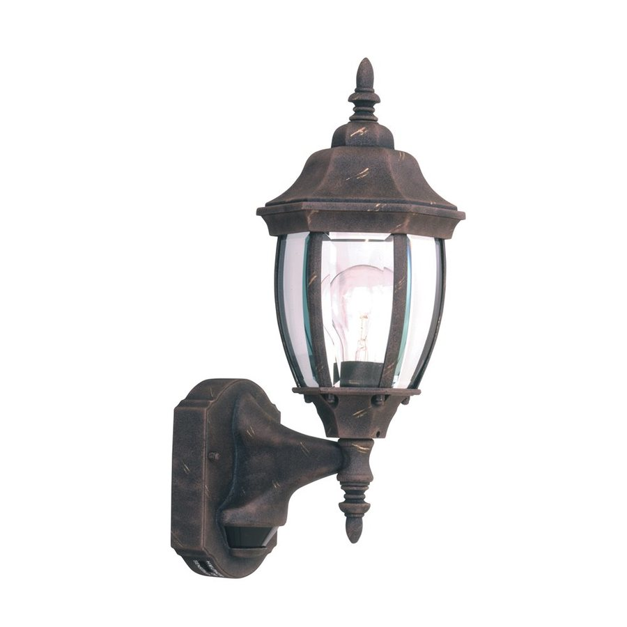 Shop Designer s Fountain Motion Detectors 14.25-in H Autumn Gold Outdoor Wall Light at Lowes.com