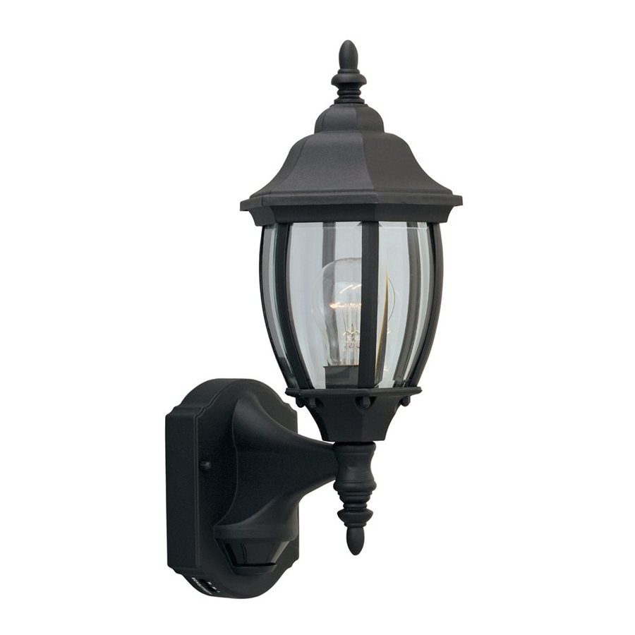 Designer's Fountain Motion Detectors 14.25-in H Black Outdoor Wall Light