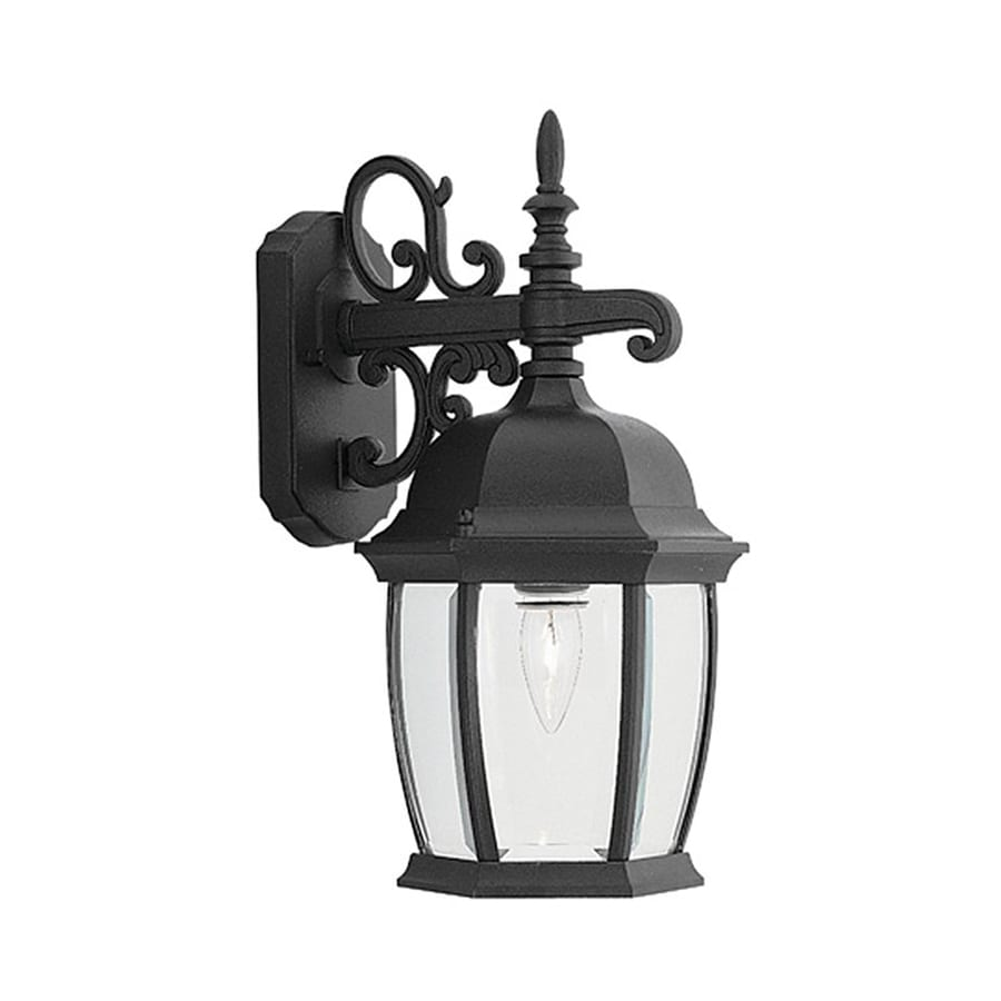 Designer's Fountain Tiverton 16-in H Black  Medium Base (E-26) Outdoor Wall Light