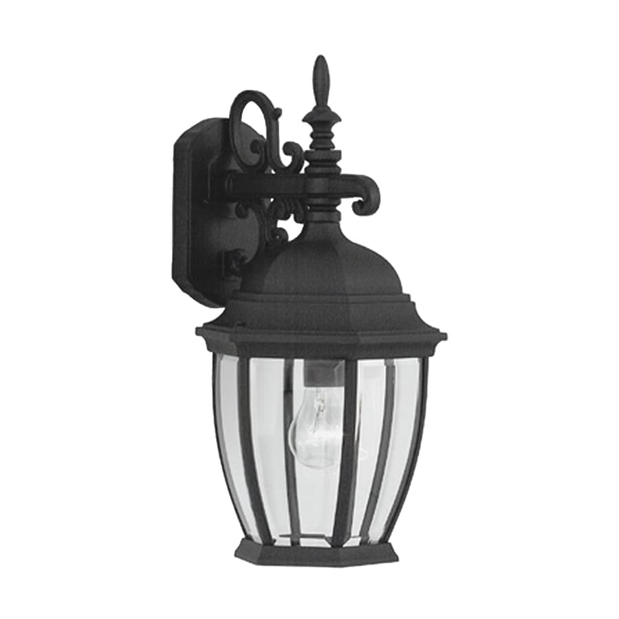 Designer's Fountain Tiverton 18.25-in H Black Outdoor Wall Light
