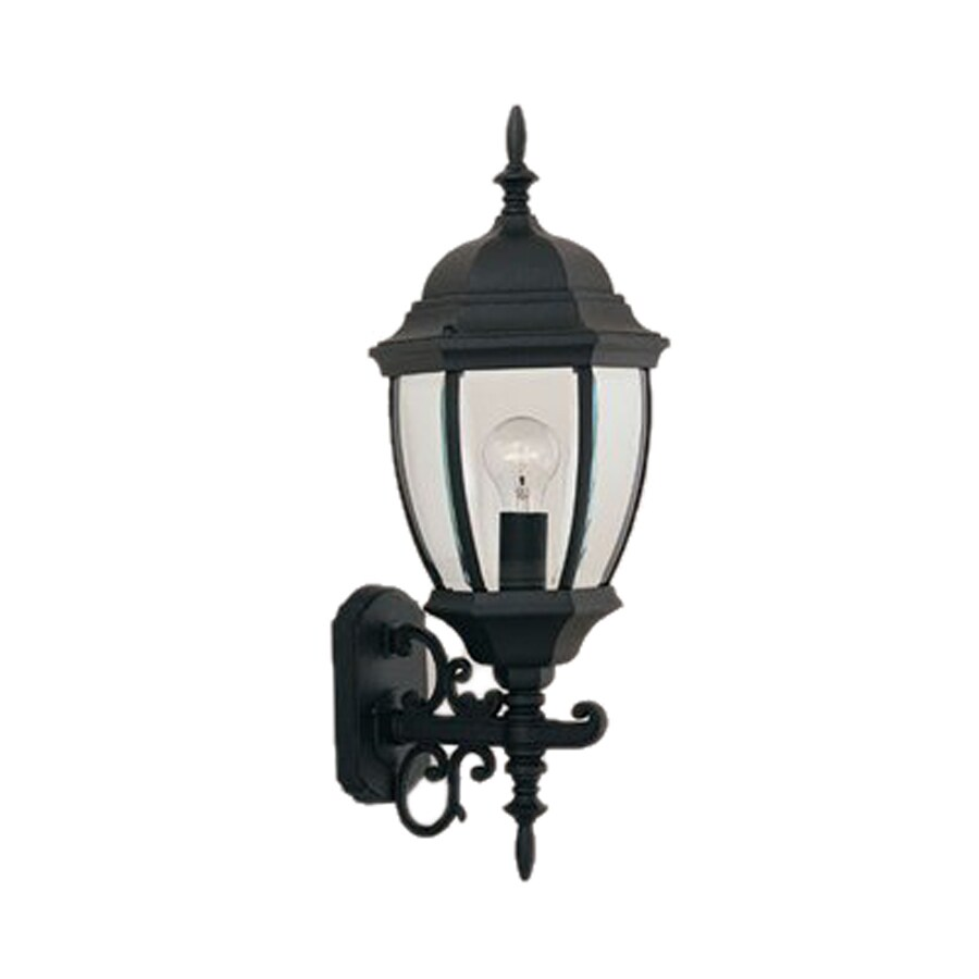 Designer's Fountain Tiverton 24.25-in H Black Outdoor Wall Light