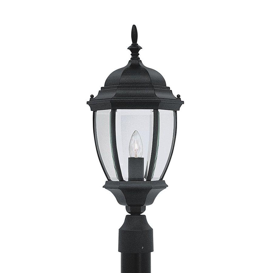Designer's Fountain Tiverton 21.5-in H Black Post Light