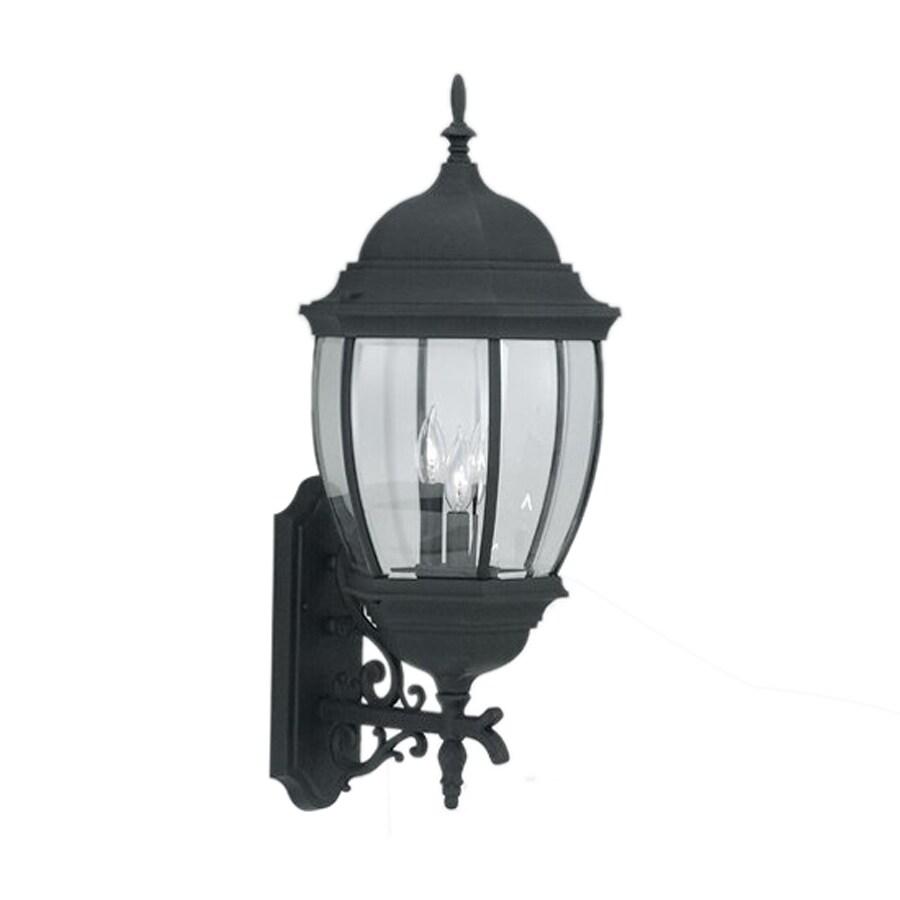 Designer's Fountain Tiverton 29.25-in H Black Outdoor Wall Light