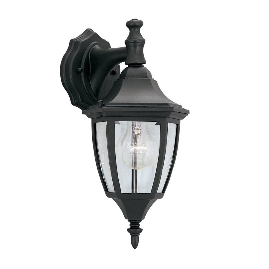 Designer's Fountain 14.25-in H Black  Medium Base (E-26) Outdoor Wall Light