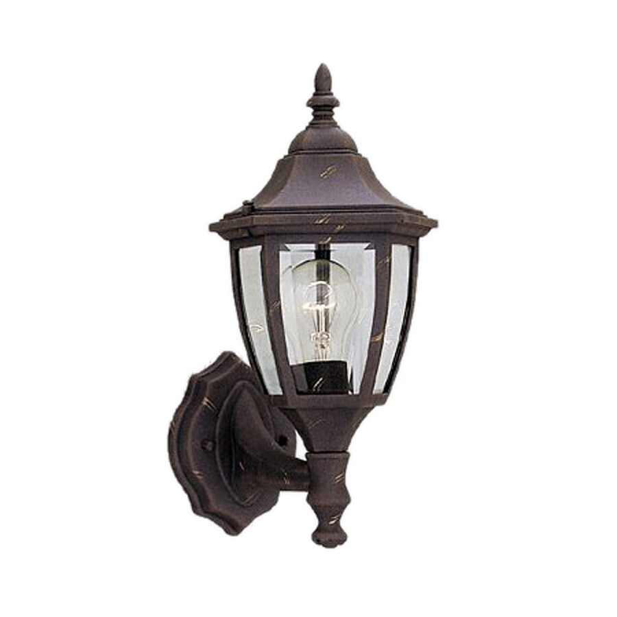 Shop Designer s Fountain 14.25-in H Autumn Gold Outdoor Wall Light at Lowes.com