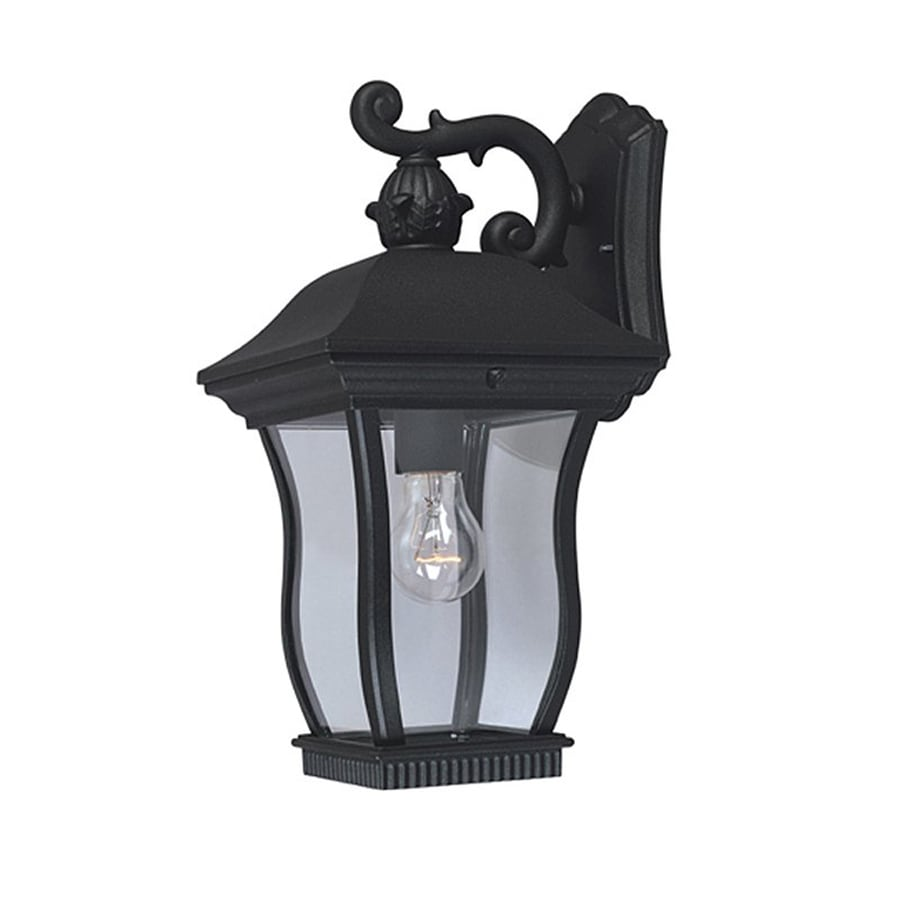 Designer's Fountain Chelsea 14.5-in H Black  Medium Base (E-26) Outdoor Wall Light