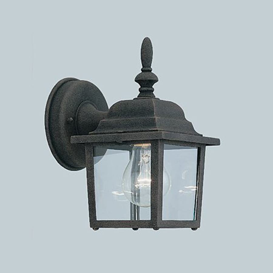 Shop Designer s Fountain 8-in H Autumn Gold Outdoor Wall Light at Lowes.com