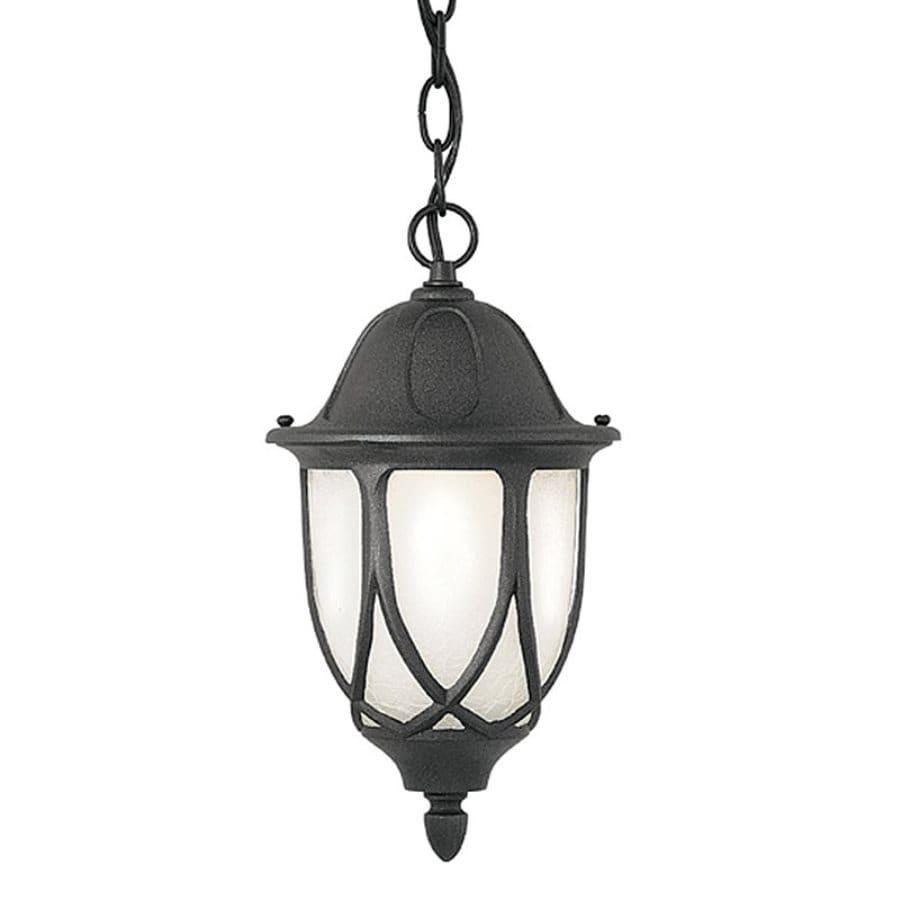 Designer's Fountain Capella 20-in Black Hardwired Outdoor Pendant Light