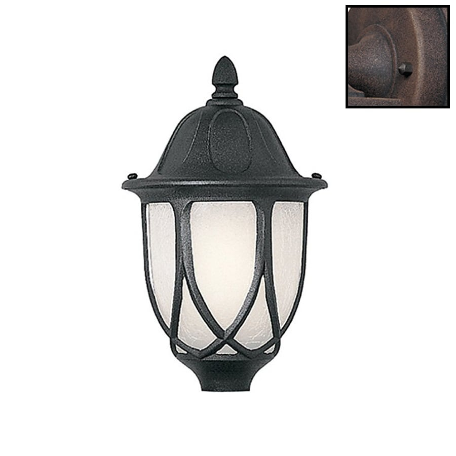 Designer's Fountain Capella 19.25-in H Black Post Light