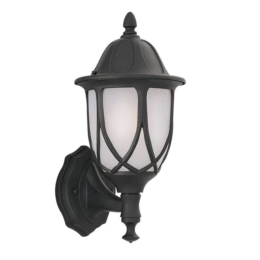 Designer's Fountain Capella 13.5-in H Black Outdoor Wall Light