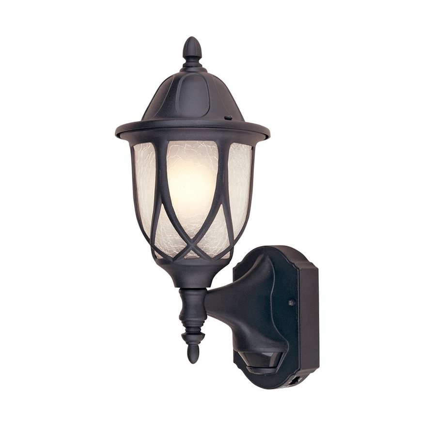 Designer's Fountain Motion Detectors 15.5-in H Black Outdoor Wall Light