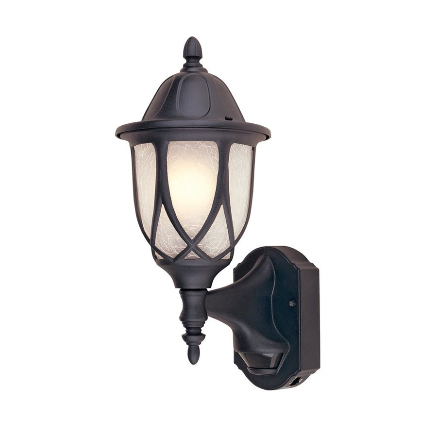 Designer's Fountain Motion Detectors 15.5-in H Black  Motion Activated Medium Base (E-26) Outdoor Wall Light
