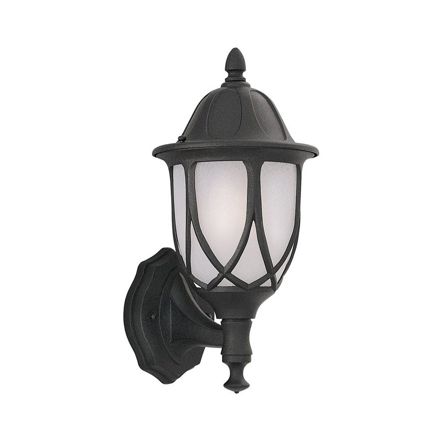 Designer's Fountain Capella 18-in H Black Outdoor Wall Light