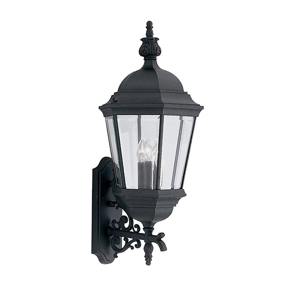 Designer's Fountain Abington 30.5-in H Black Outdoor Wall Light