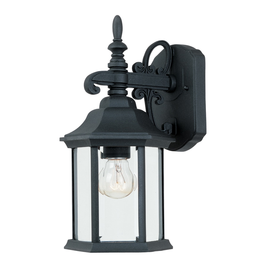 Designer's Fountain Devonshire 14.25-in H Black Outdoor Wall Light