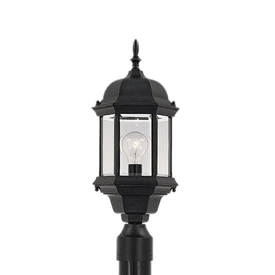 Designer's Fountain Devonshire 20-in H Black Post Light