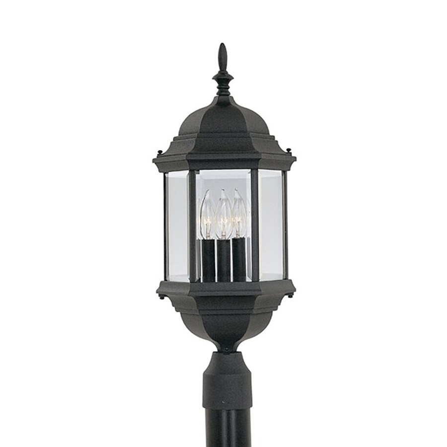 Designer's Fountain Devonshire 23.5-in H Black Post Light