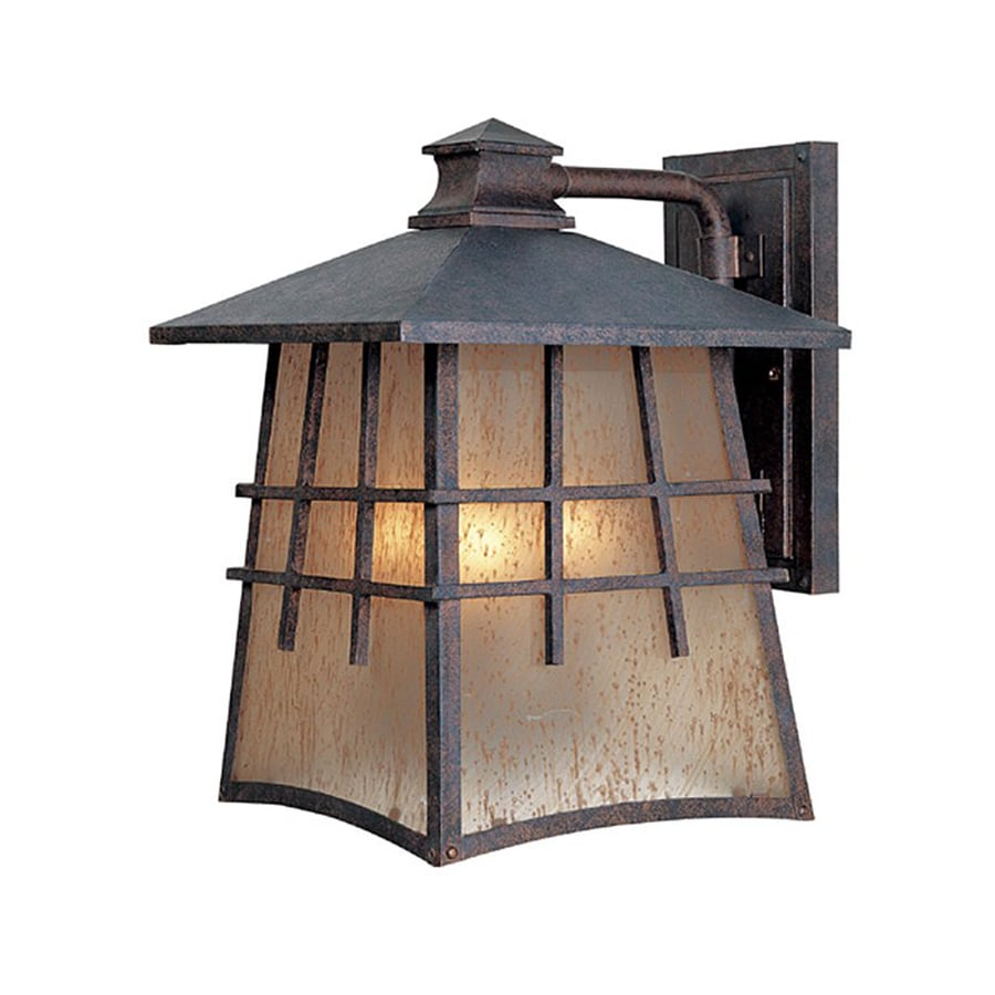 Designer's Fountain Oak Park 13-in H Mediterranean Patina Outdoor Wall Light