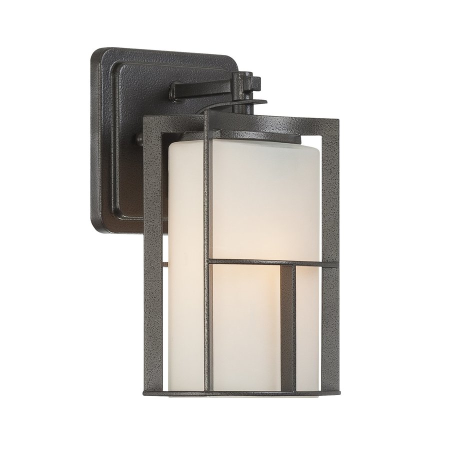Designer's Fountain Braxton 9.25-in H Charcoal  Medium Base (E-26) Outdoor Wall Light