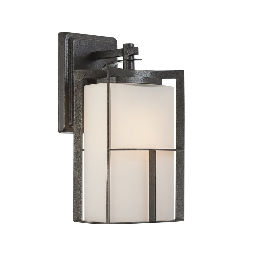 Designer's Fountain Braxton 13-in H Charcoal  Medium Base (E-26) Outdoor Wall Light