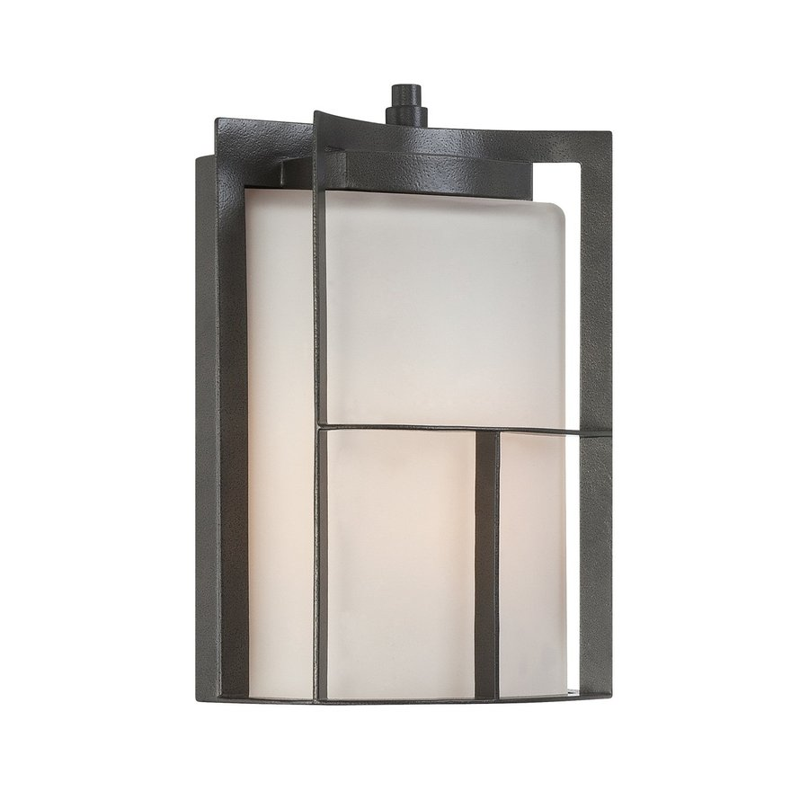 Designer's Fountain Braxton 11.25-in H Charcoal Outdoor Wall Light