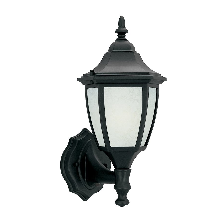 Designer's Fountain Builder Cast Aluminum 14-in H Black Outdoor Wall Light