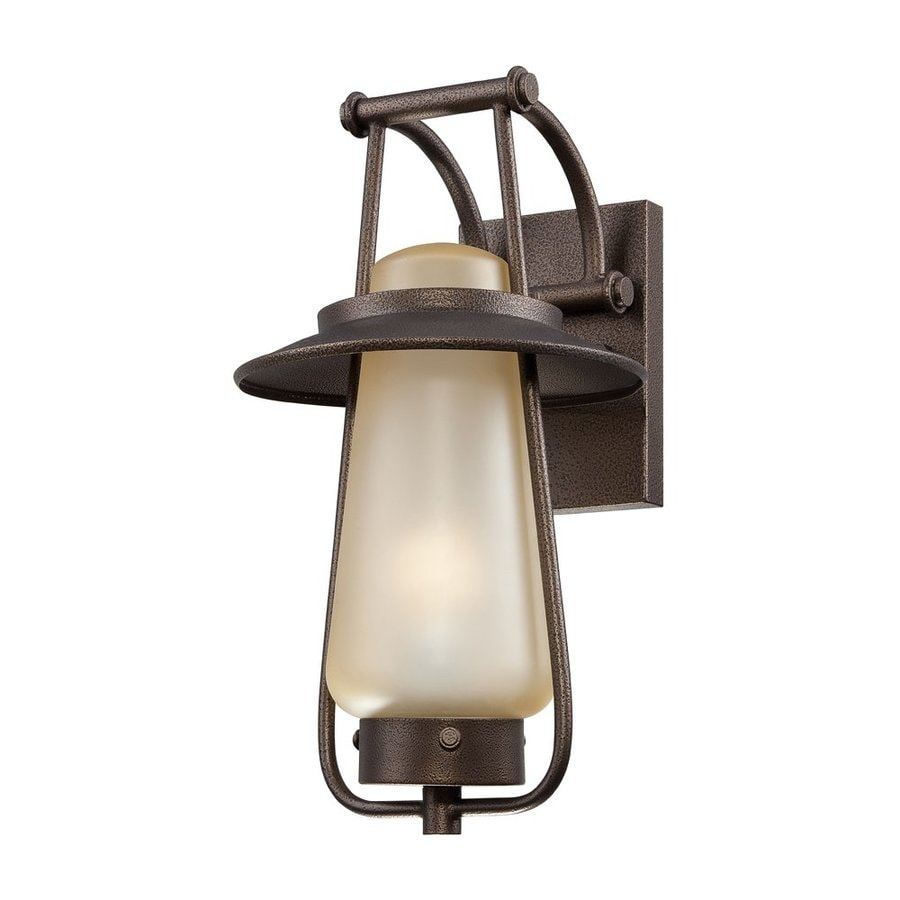 Designer's Fountain Stonyridge 16.5-in H Flemish Bronze  Gu24 Outdoor Wall Light ENERGY STAR