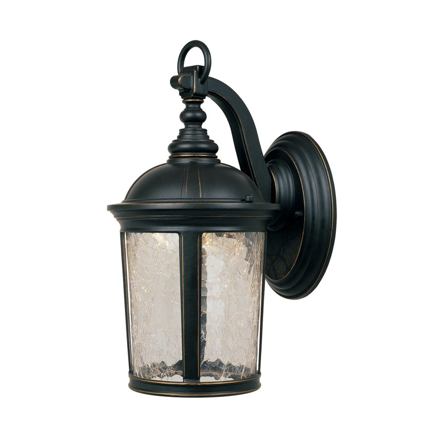 Designer's Fountain Winston 17.5-in H Aged Bronze Patina Outdoor Wall Light