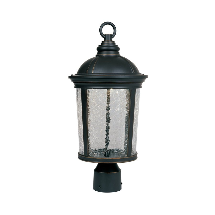 Designer's Fountain Winston 18.5-in H Aged Bronze Patina LED Post Light