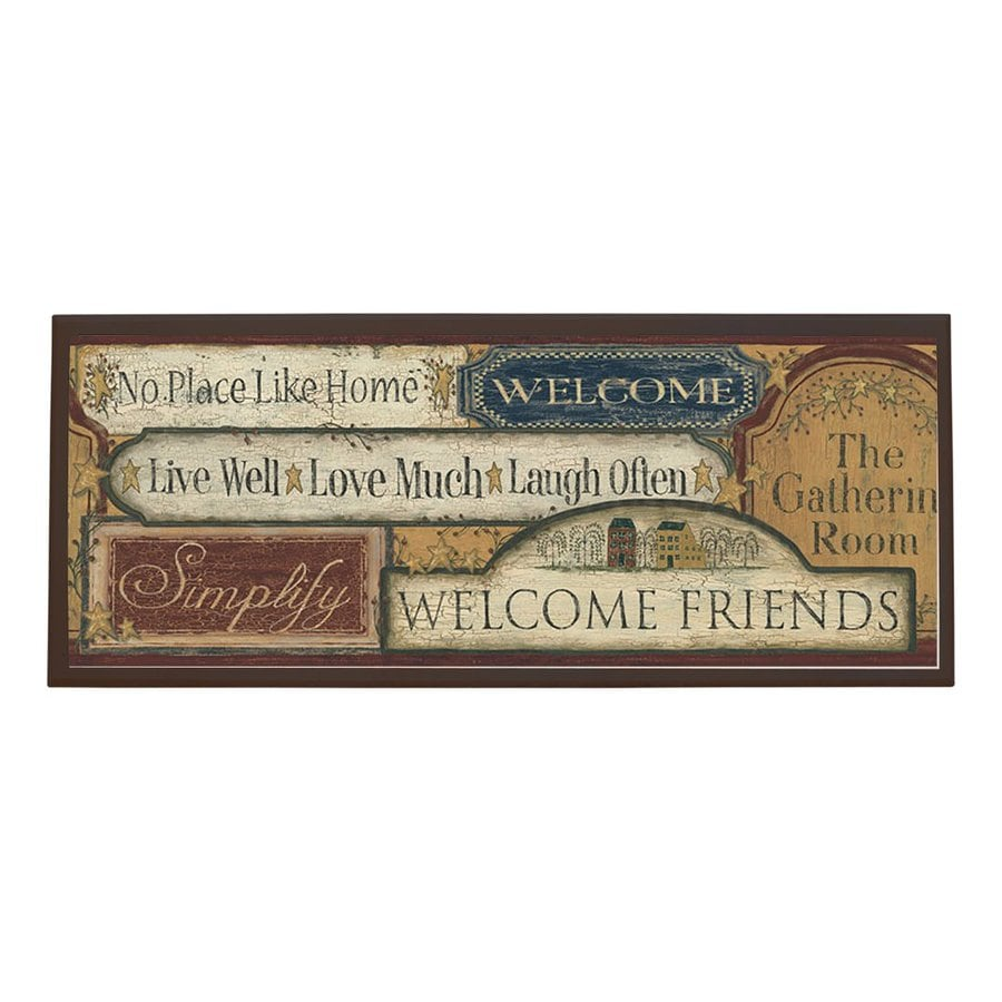 Shop Illumalite Designs 25-in W x 10.25-in H Framed Country Printed ...
