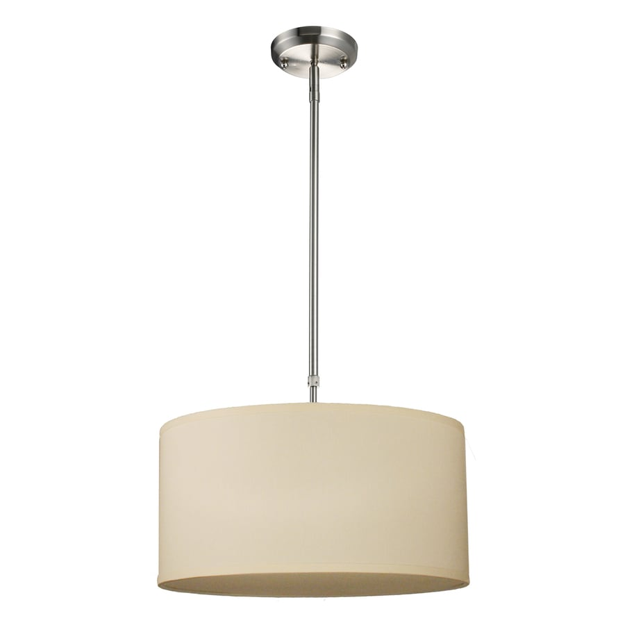 Z-Lite Albion 16-in Brushed Nickel Single Drum Pendant