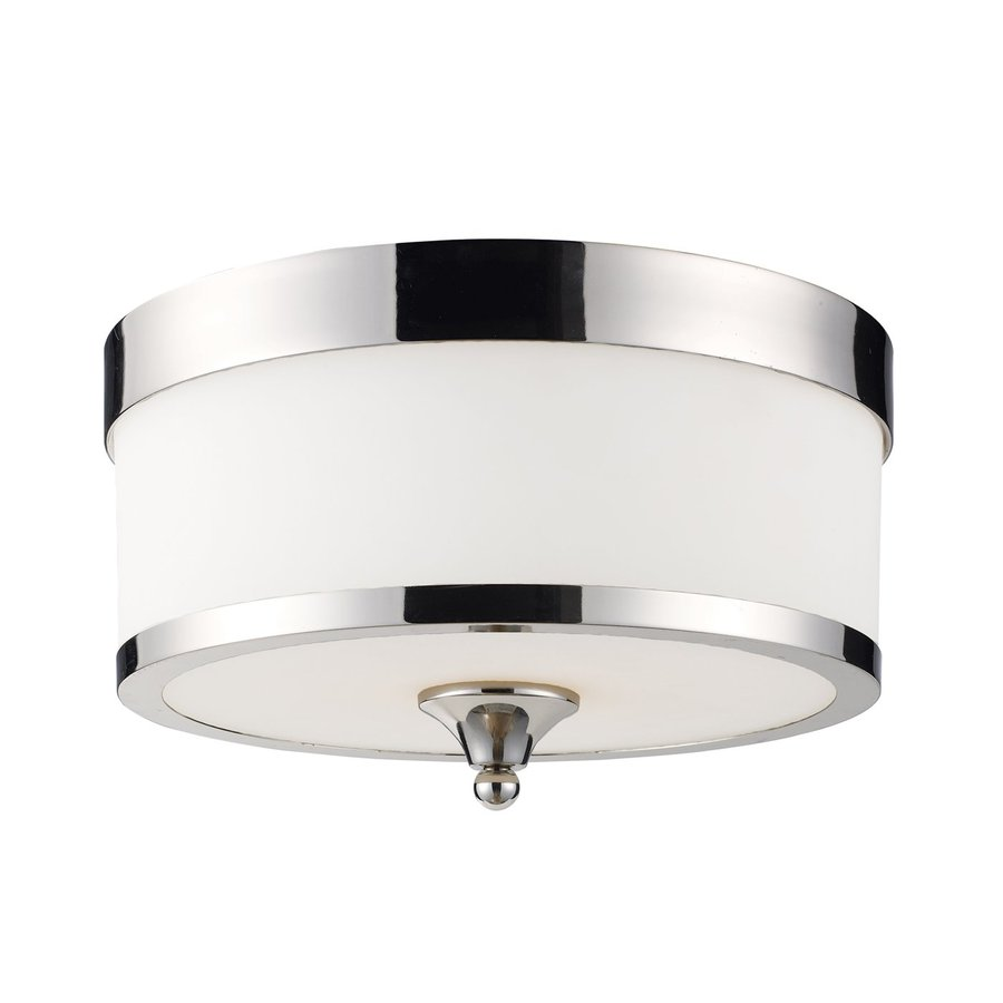 Z-Lite Cosmopolitan 13-in W Chrome Flush Mount Light