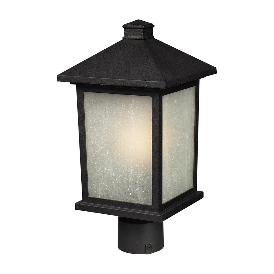 Z-Lite Holbrook 12-in H Black Post Light