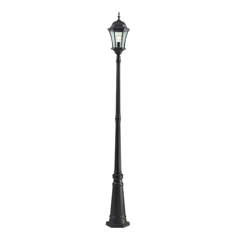 Z-Lite Wakefield 90-in H Black Post Light