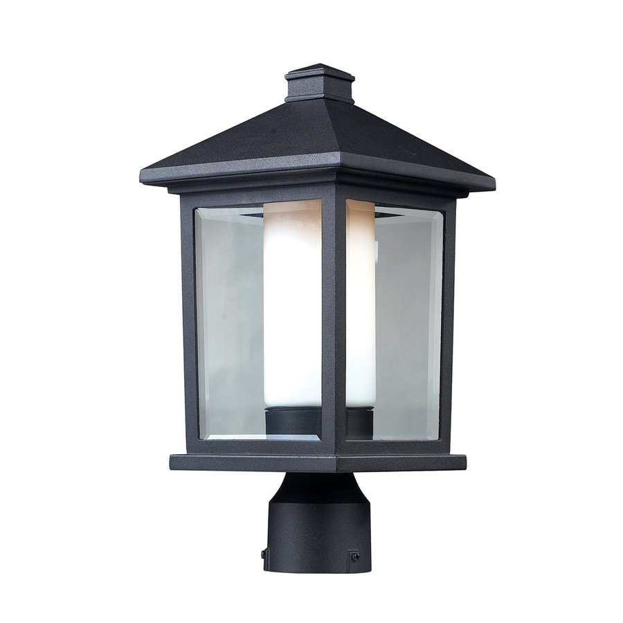 Z-Lite Mesa 15.75-in H Black Post Light
