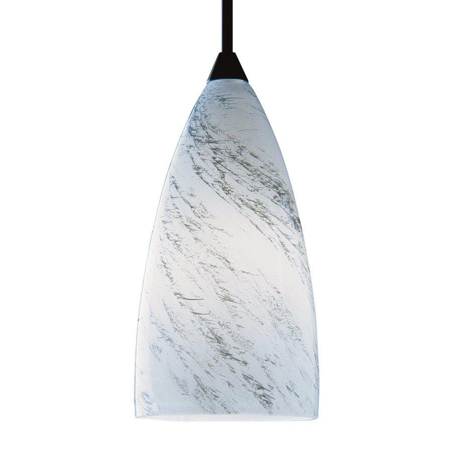 Kendal Lighting 7-in H 4-in W Granite Marbleized Glass Teardrop Pendant Light Shade