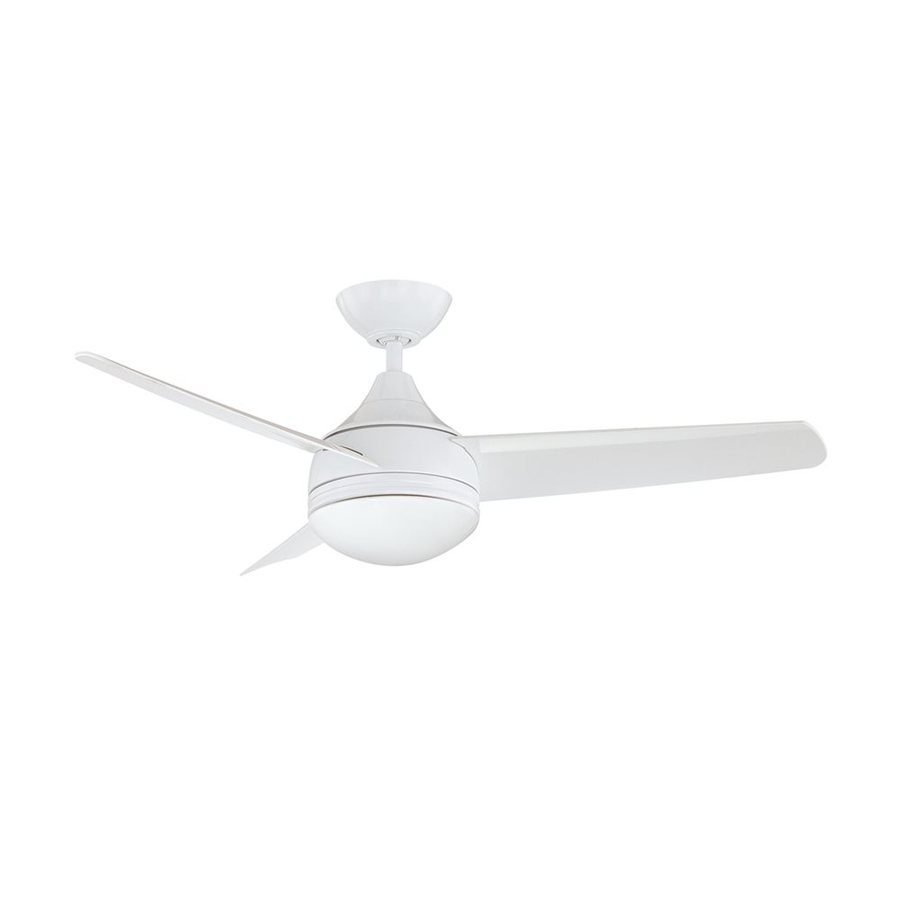 Kendal Lighting Moderno 42-in White Downrod Mount Ceiling Fan with Light Kit and Remote (3-Blade)