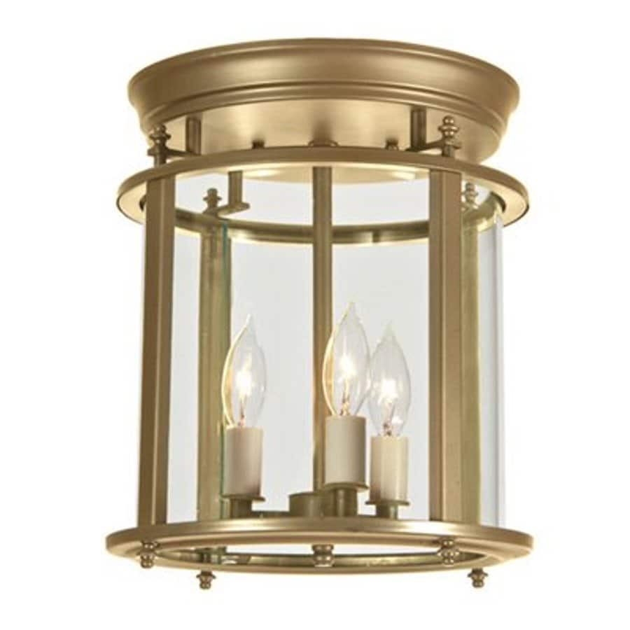 JVI Designs Murray Hill 10.5-in W Rubbed brass Flush Mount Light