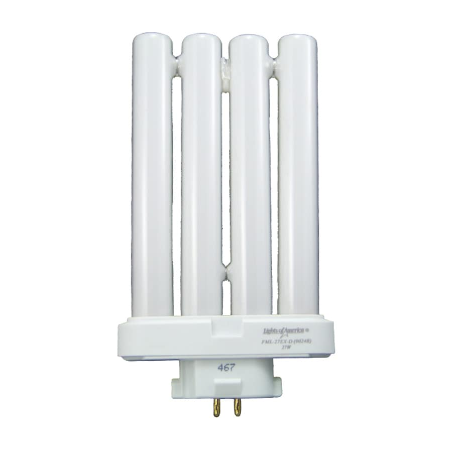 Shop Lights Of America Daylight Quad Tube Cfl Light Fixture Light Bulb At