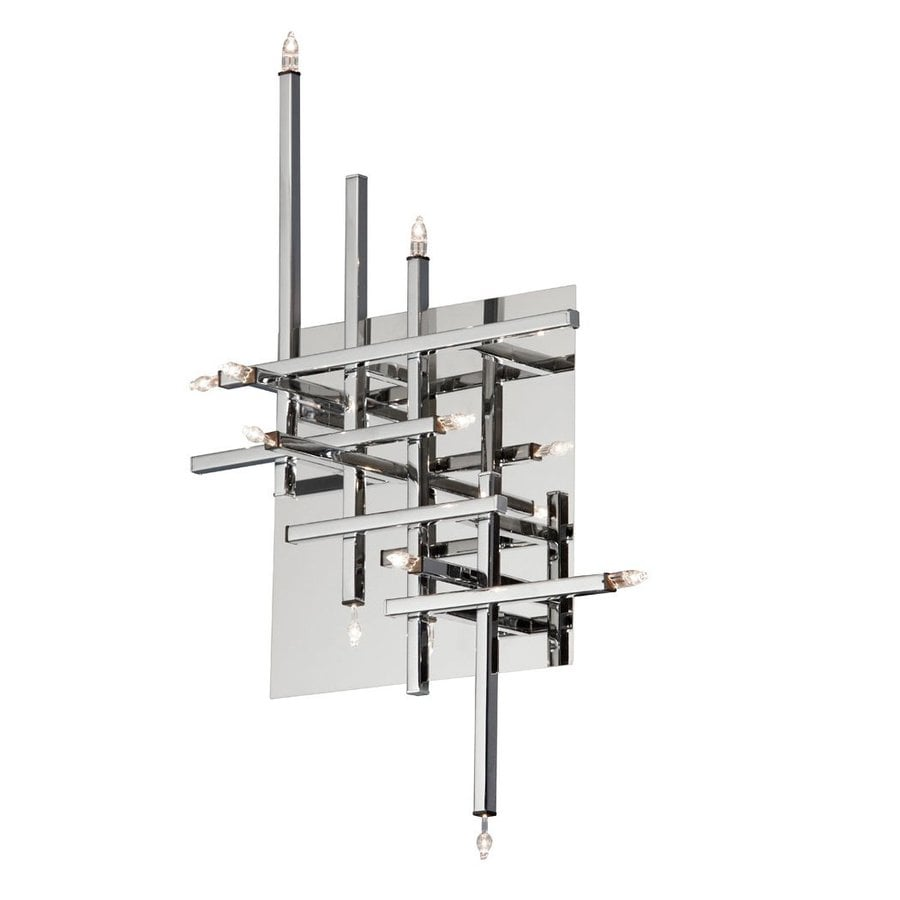 Dainolite Lighting Mondrian 13-in W 11-Light Polished chrome Candle Wall Sconce