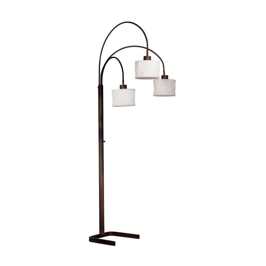 Kenroy Home Crush 82-in Three-Way Oil Rubbed Bronze Shaded Floor Lamp with Paper Shade