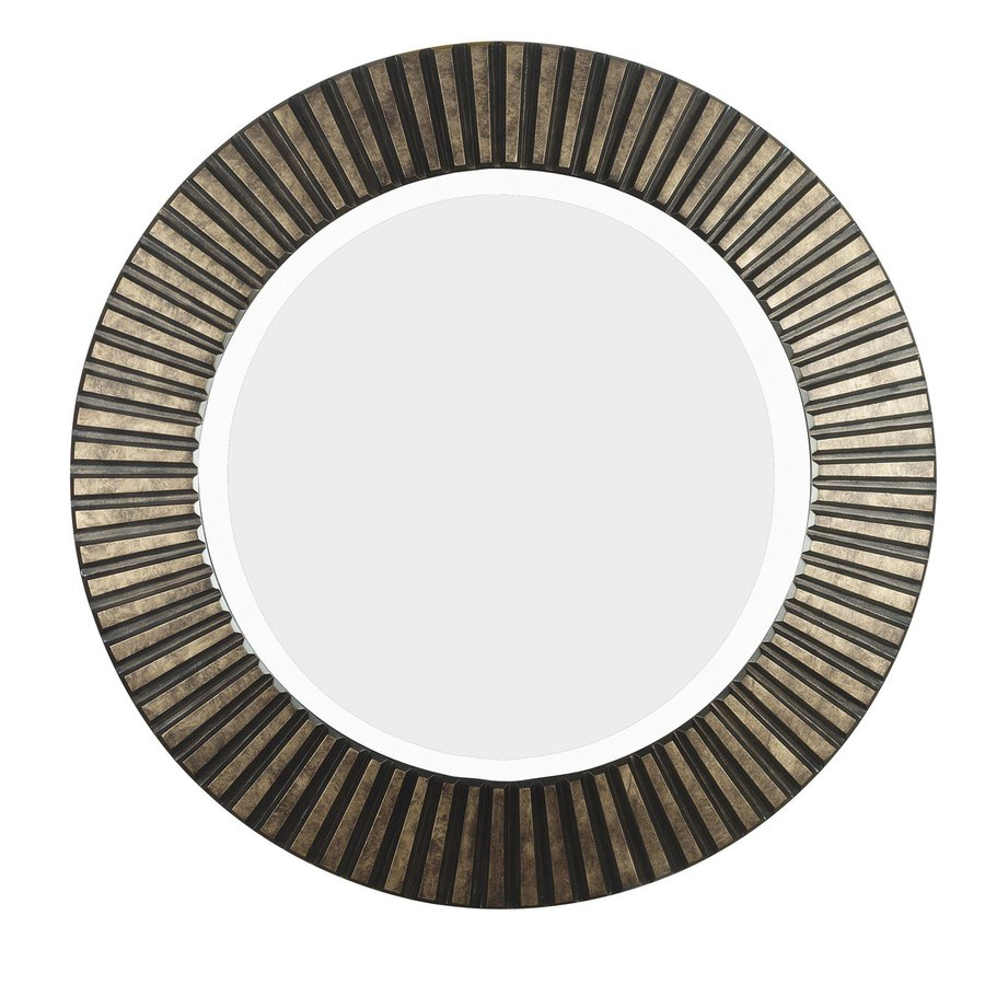 Kenroy Home North Beach 33.89-in x 33.89-in Bronze Round Framed Wall Mirror