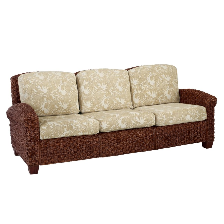 Home Styles Cabana Banana II Cinnamon Textured Cotton Stationary Sofa