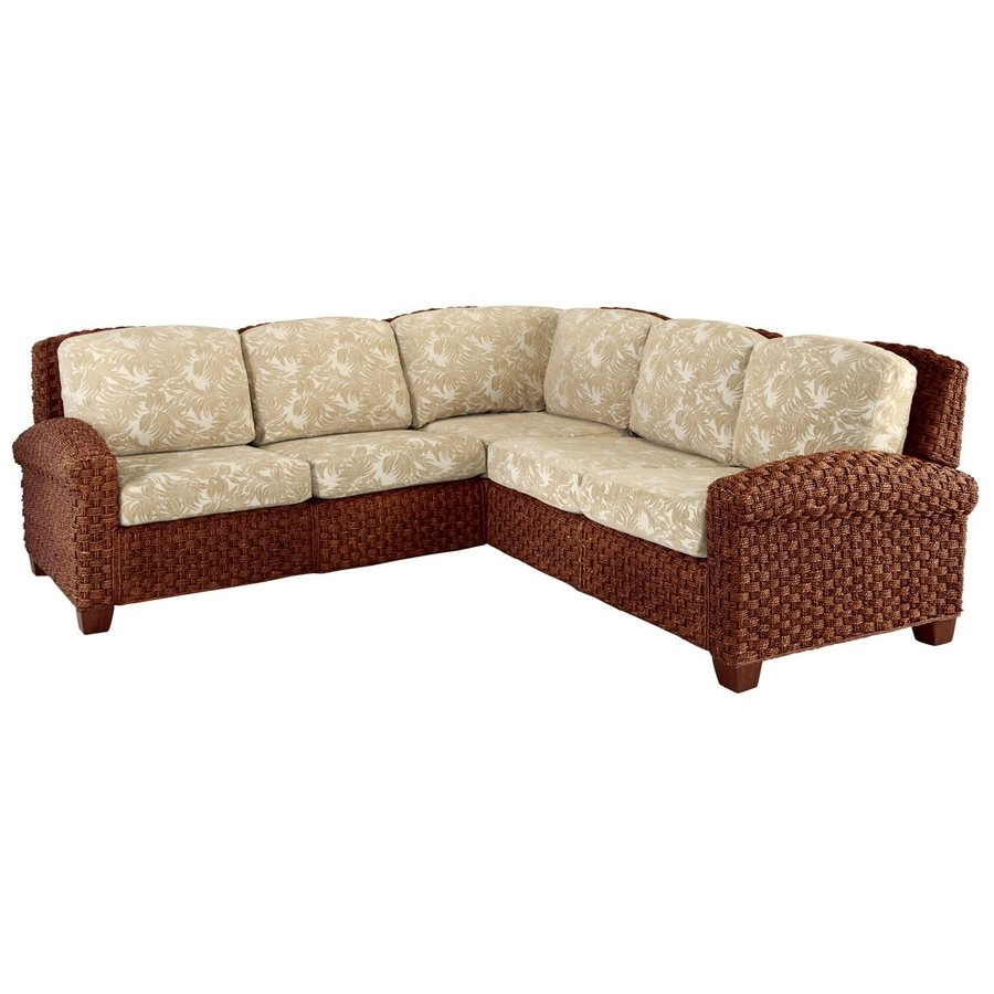 Home Styles Cabana Banana Ii Cinnamon Textured Cotton Sectional