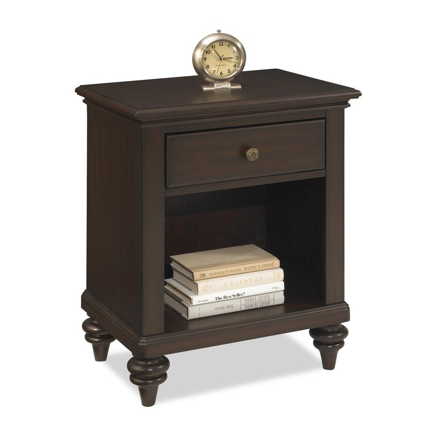 Shop Home Styles Bermuda Espresso Mahogany Nightstand At