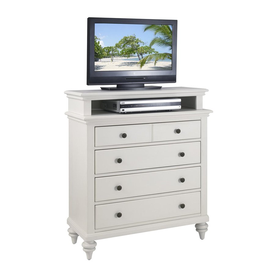 Home Styles Bermuda Brushed White 4-Drawer Chest