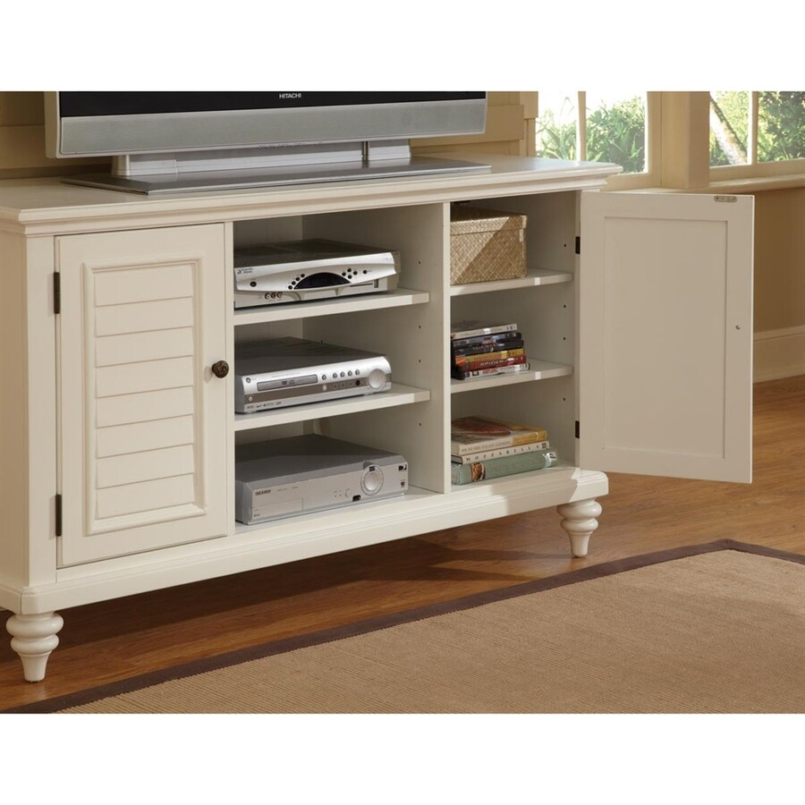 Home Styles Bermuda White Rectangular TV Cabinet