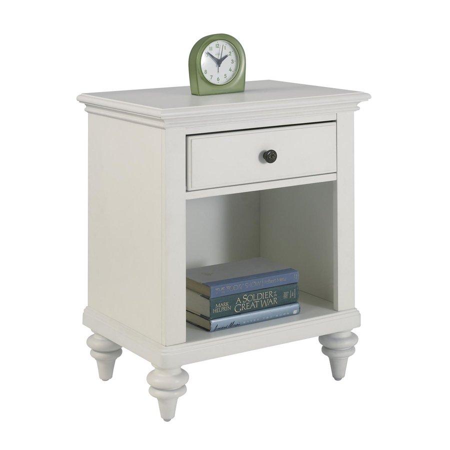 Home Styles Bermuda Brushed White Mahogany Nightstand