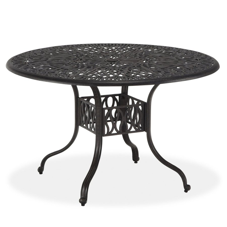 Home Styles Floral Blossom 42-in W x 42-in L Round Aluminum Dining Table