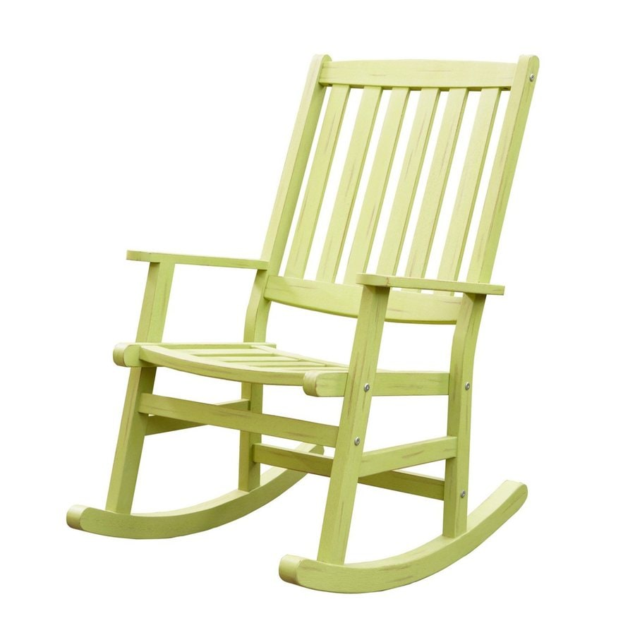 shop home styles bali hai green patio rocking chair at lowes com